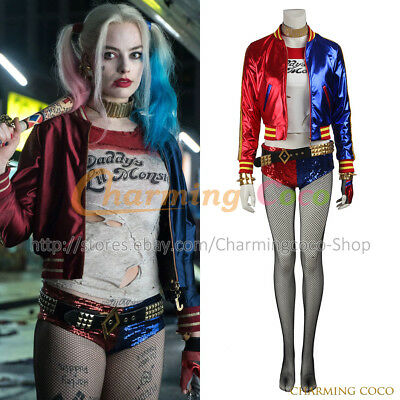 Suicide Squad Harley Quinn Batman Cosplay Costume Amazing Girl Full Set - Amazing Batman Costume