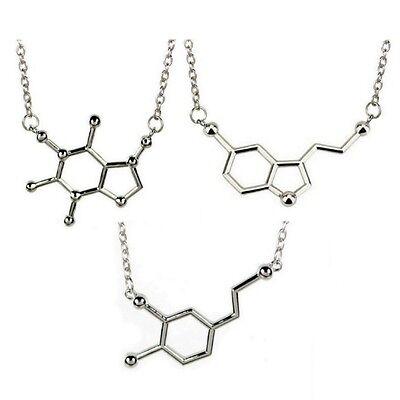 Molecule Charm Necklace Biochemistry Biochem Pendant Serotonin Dopamine Caffeine