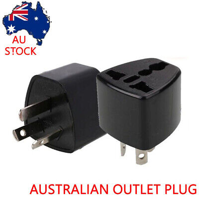 US UK EU Universal to AU Australia AC Power Adapter Plug Travel Converter