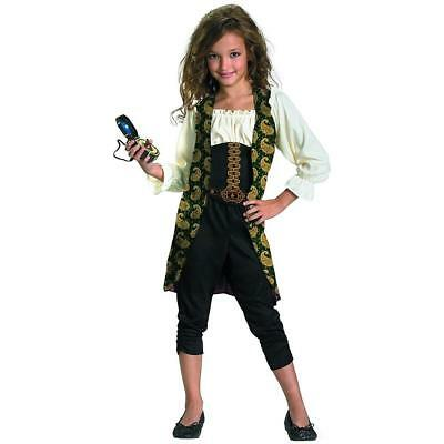 Angelica Classic Pirates Caribbean Disney Fancy Dress Halloween Child Costume