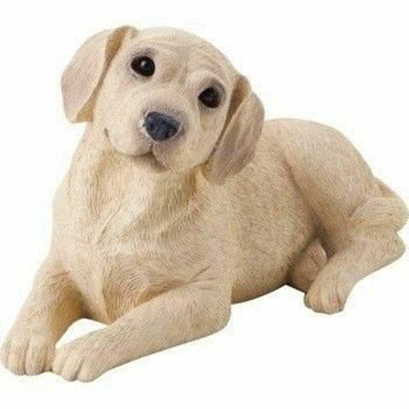 Yellow Labrador Figurine Hand Painted - Sandicast Laying