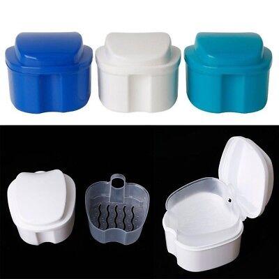 Denture Box Case Denture Cleaning Cup Retainer False Teeth Denture Storage Box