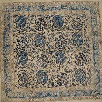 """Veggie Dye Block Print Cotton Table Napkin 18"""" x 18"""" Blue"""