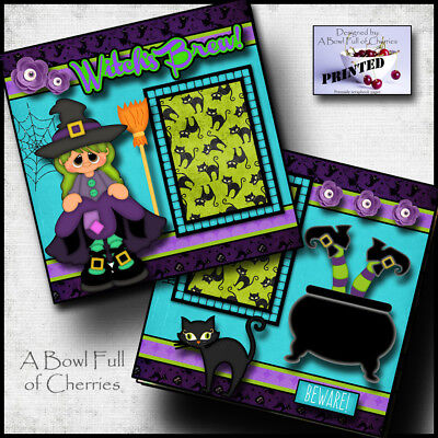 Witches Brew 2 premade scrapbook pages paper piecing layout halloween - Halloween Scrapbook Layout Pages