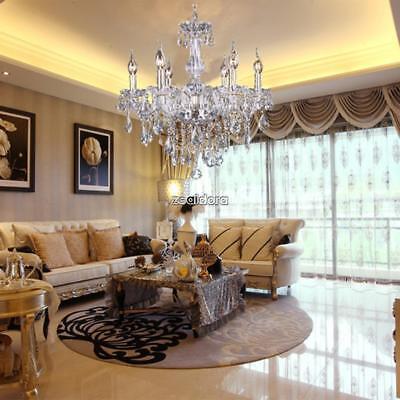 Modern Crystal Chandelier 6Ceiling Light Lamp Pendant Fixture Lights Decoration# - Chandelier Decoration