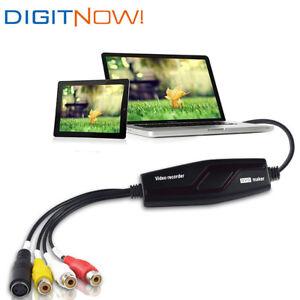 DIGITNOW! USB2.0 Video Capture Converter VHS to DVD Capture Card for Mac Windows