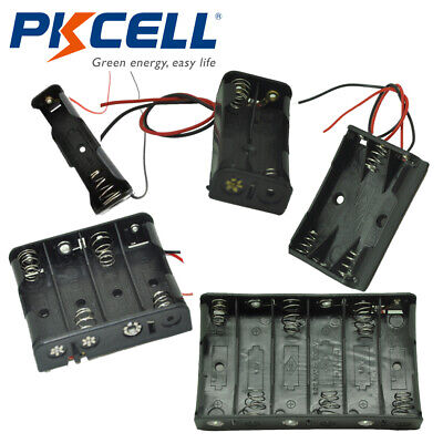 1x2x3x4x6x Aa Cells Batteries Holder Case Storage Box With Wire Leads