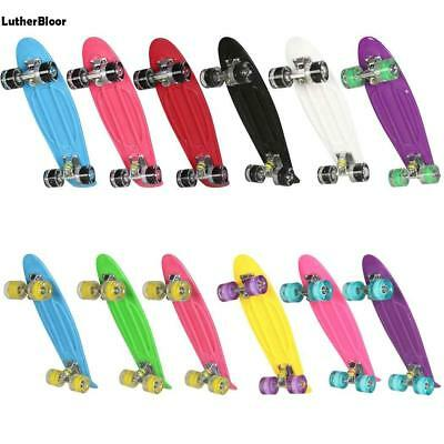 LED Kinder Skateboard Mini Cruiser Penny Board Flashing Light Kinderroller Board