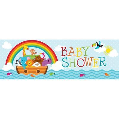 Noah's Ark Cute Cartoon Animals Boat Baby Shower Party Decoration Giant - Noah's Ark Baby Shower Decorations
