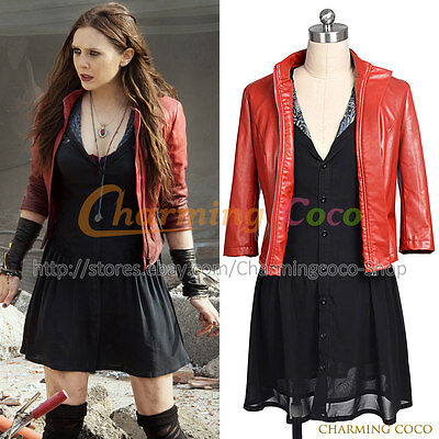The Avengers 2: Age Of Ultron Scarlet Witch  Wanda Maximoff Cosplay Daily Dress](Scarlet Witch Costume Avengers 2)