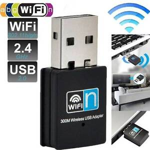 300Mbps WiFi WLAN Wireless Adapter Receiver Card USB 2.0 Dongle Noble Park Greater Dandenong Preview