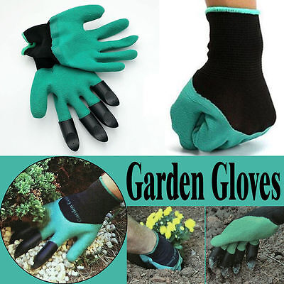 1 Pair Gardening Gloves for garden Digging Planting with 4...