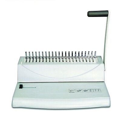 Comb Binding Machine Spiral Spines System Book Binder Manual Punch Office Best