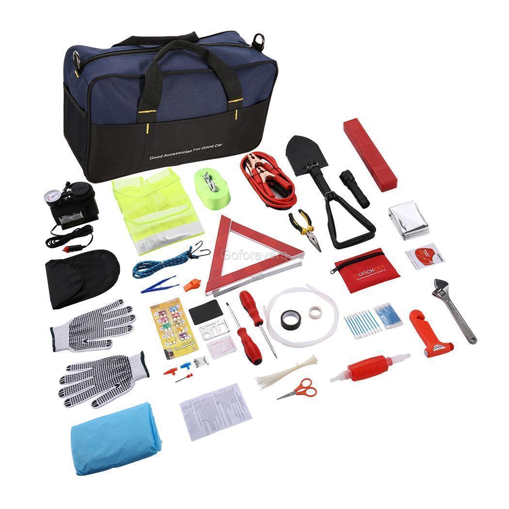 Multipurpose Roadside Assistance Car Emergency Kit Auto Safety Tools 99PACKS