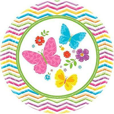 Celebrate Spring Chevron Flowers Butterfly Garden Party 7