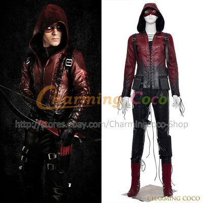 Green Arrow Red Arrow Queen Speedy Thea Cosplay Costume Halloween Uniform Outfit - Red Arrow Halloween Costume