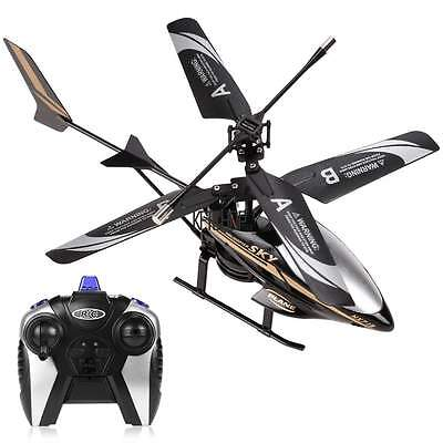 BLK LED Head Undemanding Outdoor RC Helicopter Toy GIFT Remote Control 2 Channel ECP