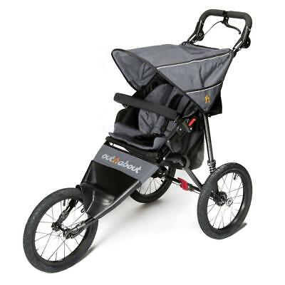 Out n About Nipper Sport v4 Jogger (Stahl Grau) Laufen Buggy