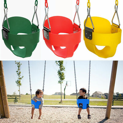 Playground Full Bucket Swing Seat w/ Chain Outdoor Play For Kid Toddler Backyard ()