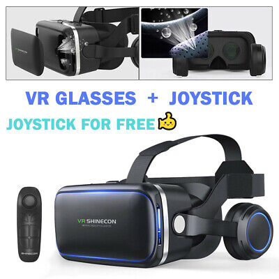 VR Headset BOX 3D Virtual Reality Glasses Fit Iphone 11 X 8 7 XR Samsung S9 S8