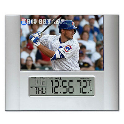 Kris Bryant Chicago Cubs Digital Wall Desk Clock with temperature + alarm Chicago Cubs Alarm Clock
