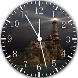Light House Frameless Borderless Wall Clock Nice For Gifts or Decor W320