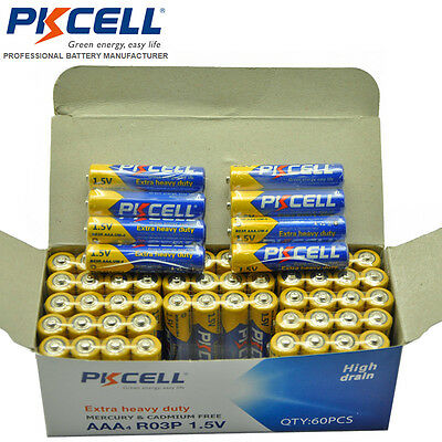 40x R03P AAA 1.5V Super Heavy Duty Carbon-Zinc Triple A Battery PKCELL EXP.2021
