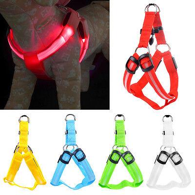 LED Luce Lampeggiante Imbracatura Cane Sicurezza Cucciolo Collare Di Guinzaglio