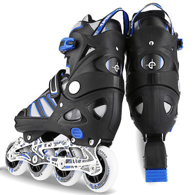 Pro Inline Skate Rollerblade Roller Blades Boots PU Wheel Size S~L for covid 19 (Pro Skate Boot coronavirus)