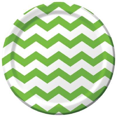 Chevron Party Supplies (Chevron Polka Dots Fresh Lime Modern Party Supplies 9