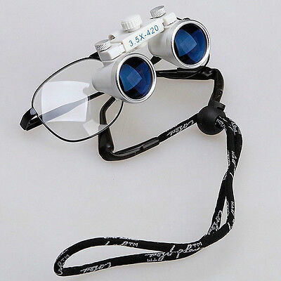 New 1dental Surgical Loupes Glasses Medical Binocular Magnifier 3.5x 420mm