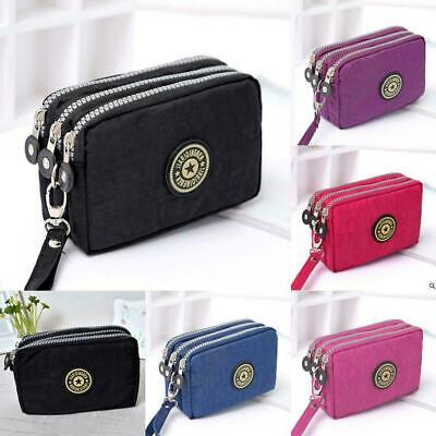 Women Lady Canvas Wallet Long Large Purse Card Phone Holder Case Clutch Handbag