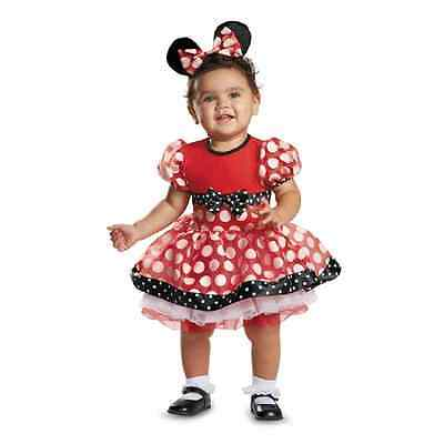 Red Minnie Mouse Prestige Disney Baby Halloween Deluxe Toddler Child Costume