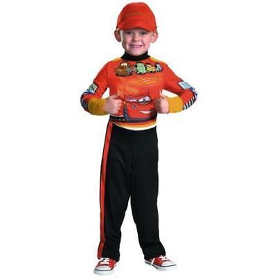 Lightning McQueen Pit Crew Disney Cars 2 Fancy Dress Up Halloween Child Costume