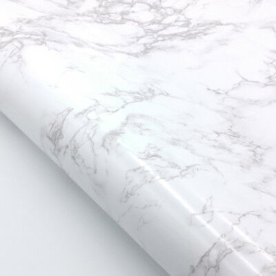 Marble Contact Paper Self adhesive - White Glossy Faux Marble Paper ](Faux Marble Contact Paper)
