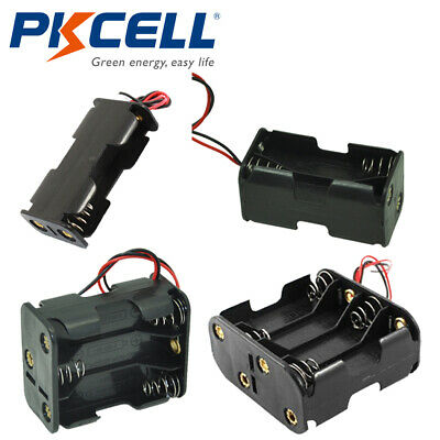 Aa Battery Holder Double Side Storage Case 2x4x6x8x Aa Cells Box Wire Leads
