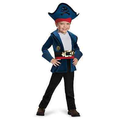 Captain Jake Classic Never Land Pirates Fancy Dress Up Halloween Child Costume