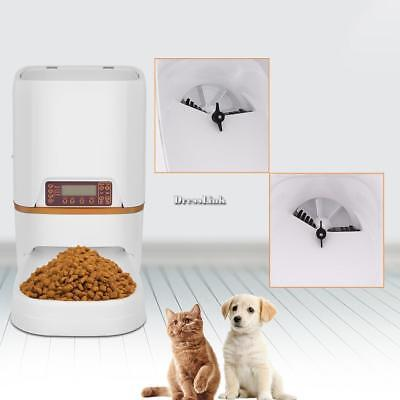 6L Automatic Pet Feeder Food Dispenser for Cat Dog Timer Programmable  ()