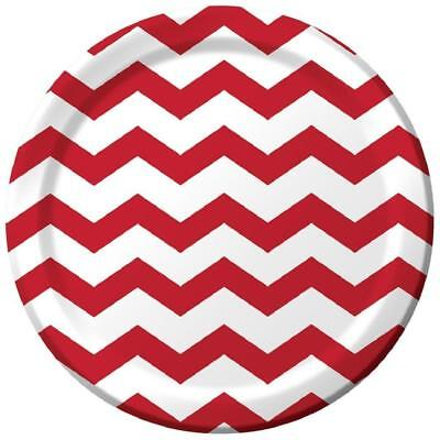 Chevron Party Supplies (Chevron Polka Dots Classic Red Modern Party Supplies 9