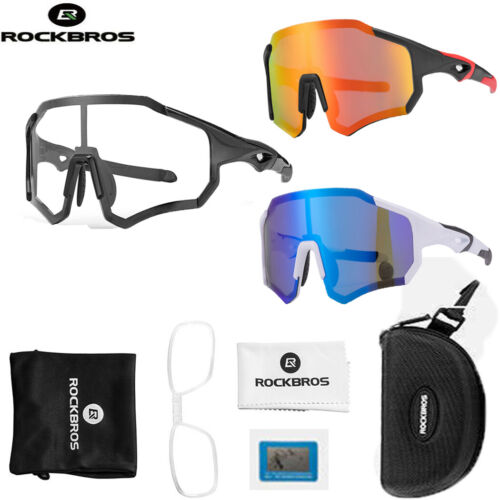 ROCKBROS Polarized Cycling Sunglasses Bike Glasses Full Frame UV400 Goggles US