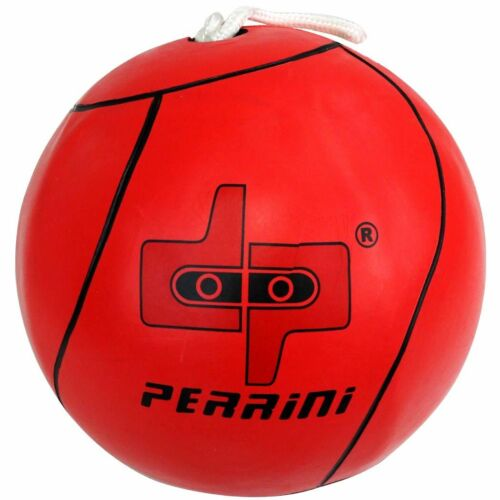 DP PERRINI TETHER BALL OFFICIAL SIZE OUTDOOR PLAY RED COLOR WITH ROPE INCLUDED
