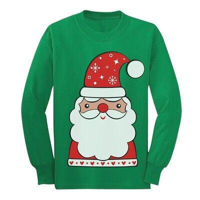Cute Christmas Outfits For Kids (Cute Santa Claus Outfit For Christmas Youth Kids Long Sleeve T-Shirt)