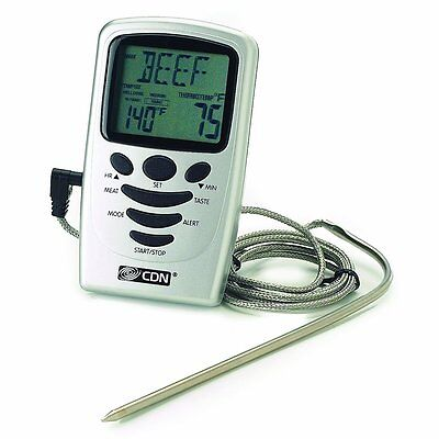 CDN Oven Programmable Kitchen Probe Thermometer Timer DTP482 - 1751005