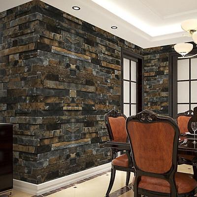 3D Wallpaper Brick Stone Pattern Waterproof Self Adhesive Wall Stick Decor -