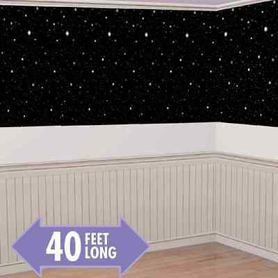 Hollywood Starry Night Stars Scene Setter Theme Party Wall Decoration Room Roll - Starry Night Scene Setter