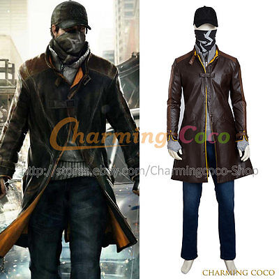 Watch Dogs Cosplay Aiden Pearce Costume Halloween Uniform Movie Full Set Outfit ](Watch Dogs Halloween Costume)