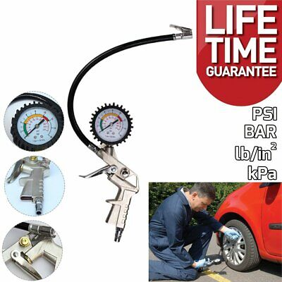 10604 Airline Car Tyre Inflator with Air Pressure Gauge For Compressor