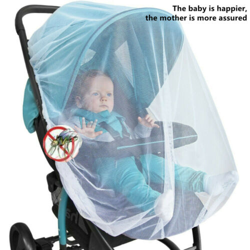 Baby Infants Stroller Pushchair Mosquito Insect Net Safe Mesh White Buggy Cover