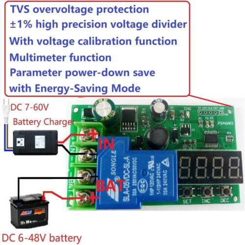 6-60V Lead-acid Lithium Battery Battery Charging Protection Board UPS Car Solar