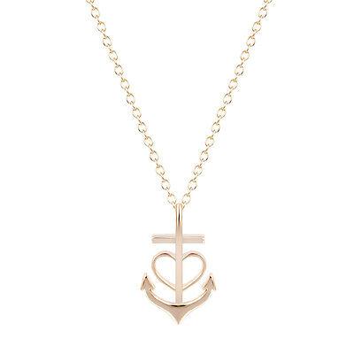 Anchor Heart (Heart Anchor Chain Necklace Jewelry Sailor's Accessories Teen Girls Women)